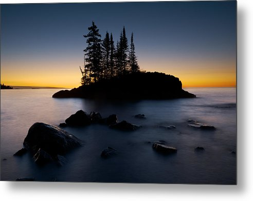 Island On Lake Superior - Metal Print