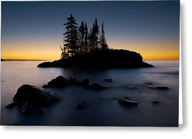 Island On Lake Superior - Greeting Card
