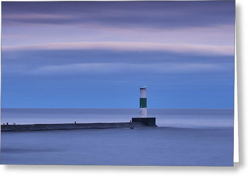 Lighthouse During Blue Hour - Greeting Card