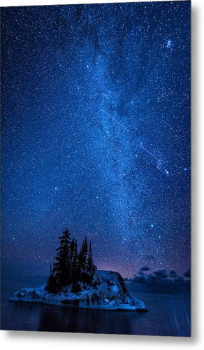 Milky Way And Island - Metal Print