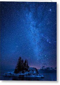 Milky Way And Island - Greeting Card