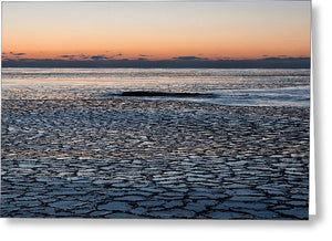 Pancake Ice Before Sunrise - Greeting Card