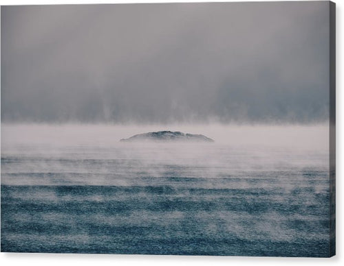 Sea Smoke And The Five Mile Rock - Canvas Print