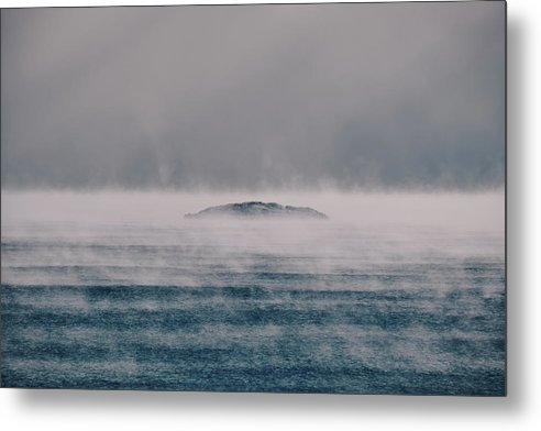 Sea Smoke And The Five Mile Rock - Metal Print