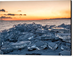 Stacked Ice - Canvas Print