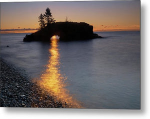 Sunrise At Hollow Rock - Metal Print