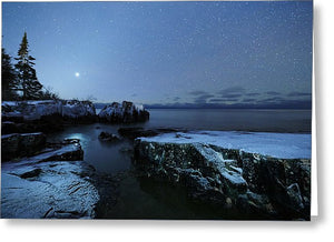 Venus On Lake Superior - Greeting Card