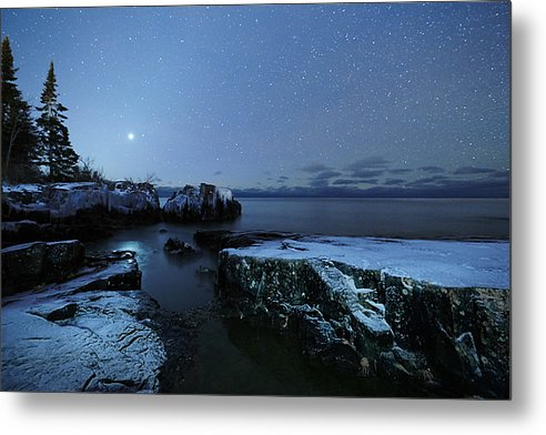 Venus Over Lake Superior - Metal Print