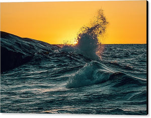 Waves During Sunrise - Canvas Print