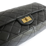 CHANEL 2.55 Reissue Flap Bag Size 227 in Black Aged Calfskin - Dearluxe.com