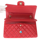 Medium Classic Double Flap Bag in 19B Red Caviar