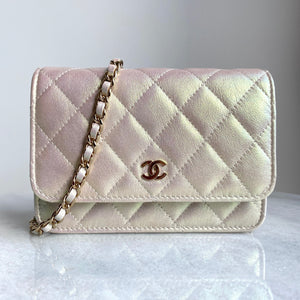 Mini Wallet On Chain WOC in 20B Iridescent Ivory
