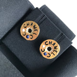 CHANEL 19A Egypt Coco Chanel Cutout Crystal Stud Earrings - Dearluxe.com