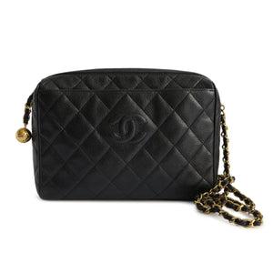 CHANEL Vintage Camera Bag in Black Caviar - Dearluxe.com