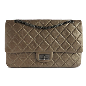 CHANEL 2.55 Reissue Flap Bag Size 227 in Dark Gold Aged Calfskin - Dearluxe.com