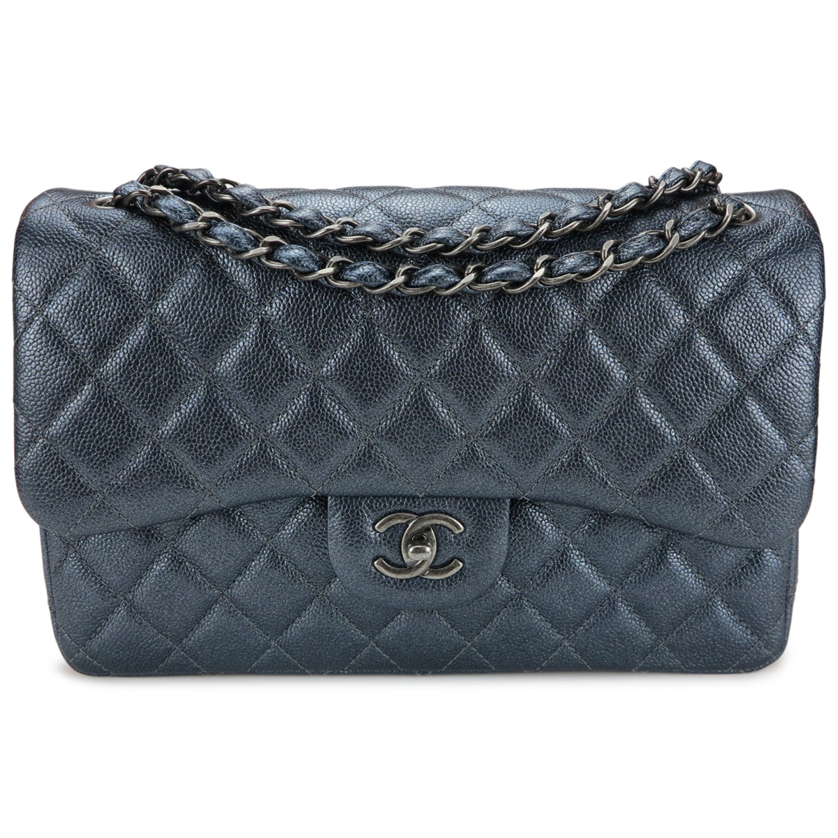 fc4e1fd0bc68 CHANEL Jumbo Classic Double Flap Bag in Pearly Charcoal Caviar -  Dearluxe.com ...