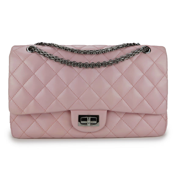 CHANEL 2.55 Reissue Flap Bag Size 227 in Pearlized Pink Calfskin - Dearluxe.com