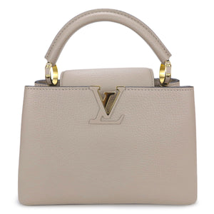 LOUIS VUITTON Capucines BB in Galet - Dearluxe.com