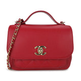 CHANEL Small Business Affinity Flap Bag in Red Caviar - Dearluxe.com