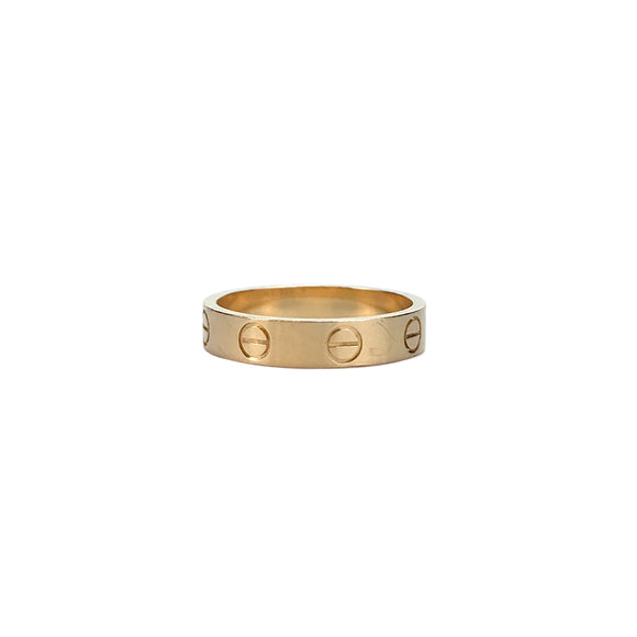 CARTIER Love Ring Wedding Band in 18k Pink Gold - Dearluxe.com