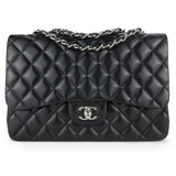 CHANEL Jumbo Classic Single Flap Bag in Black Lambskin Leather - Dearluxe.com