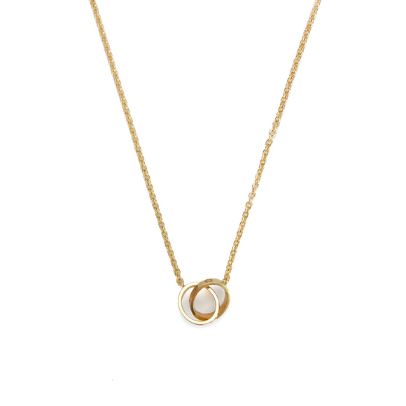 CARTIER Interlocking Love Necklace in 18k Pink Gold - Dearluxe.com