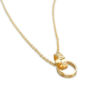 Interlocking Love Necklace in 18k Pink Gold