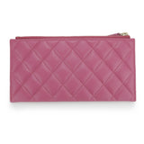 Long Flat Mademoiselle Wallet Pouch in Pink