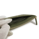 Long Flat Wallet Pouch in Khaki Green