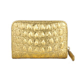 CHANEL Gold Crocodile Emboassed Zippy Wallet Coin Purse - Dearluxe.com