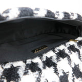 CHANEL 19 Medium Flap Bag in Black And White Houndstooth Tweed