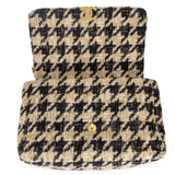 CHANEL CHANEL 19 Maxi Flap Bag in Beige Black Houndstooth Tweed - Dearluxe.com