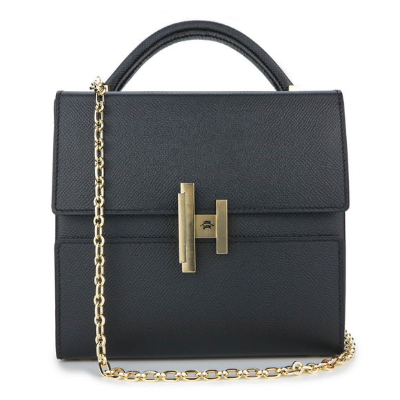 Hermes Cinhetic Verso Bag in Black Epsom Leather - Dearluxe.com