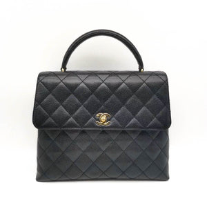 CHANEL Vintage Kelly Bag in Black Caviar - Dearluxe.comCHANEL Vintage Kelly Bag in Black Caviar - Dearluxe.com