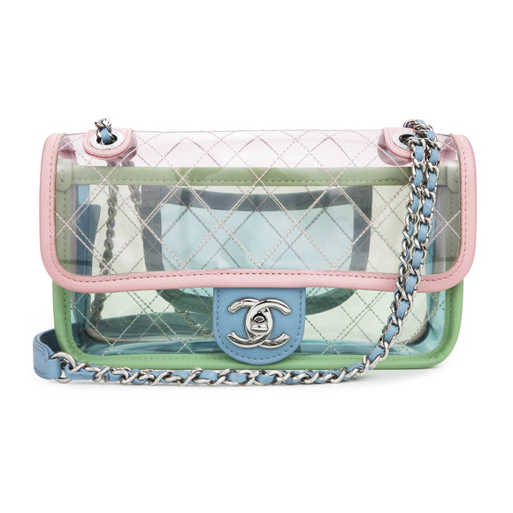 CHANEL Coco Splash Multicolor PVC Mini Flap Bag - Dearluxe.com