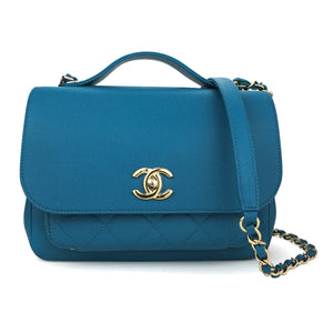 CHANEL Medium Business Affinity Flap Bag in Turquoise Caviar - Dearluxe.com