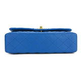 CHANEL Medium Classic Double Flap Bag in Blue Lambskin GHW - Dearluxe.com