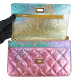 CHANEL 20A Rainbow Metallic 2.55 Reissue Wallet On Chain WOC - Dearluxe.com