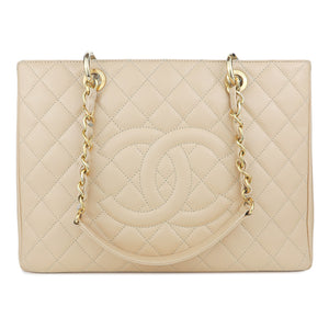 CHANEL Grand Shopping Tote GST in Beige Caviar - Dearluxe.com