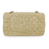 CHANEL Raffia Woven Straw Medium Classic Double Flap Bag - Dearluxe.com