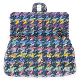 CHANEL Rainbow Houndstooth Wool Tweed Medium Flap Bag - Dearluxe.com