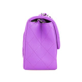 CHANEL Classic Mini Square Flap Bag in 20C Purple Lambskin - Dearluxe.com