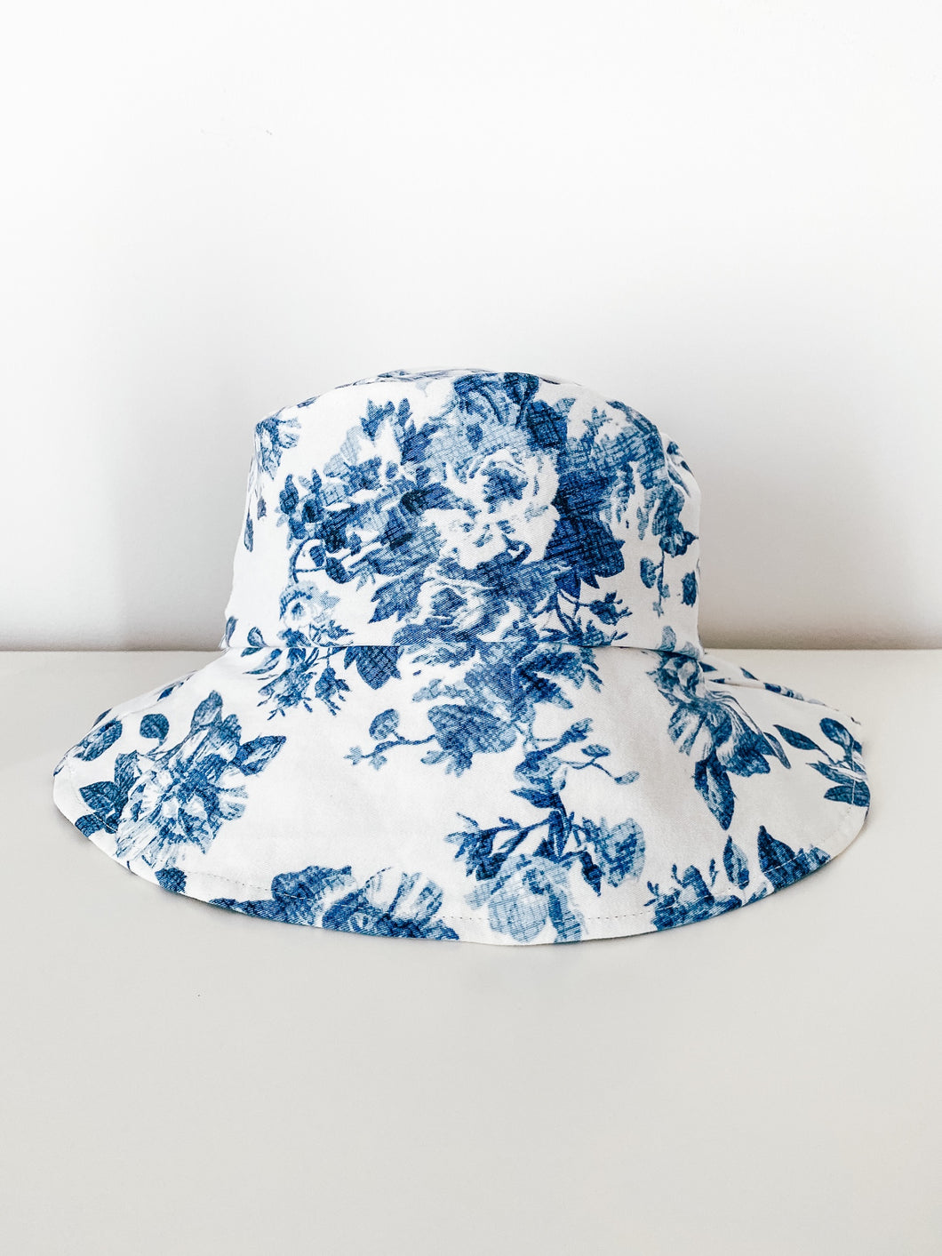 Upcycled Floral Denim Bucket Hat