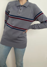 1970's Long Sleeve Striped Collared Shirt