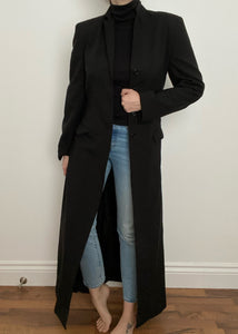 90's Le Chateau Full Length Black Duster