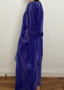 Purple Danier Suede Button Up Dress / Duster