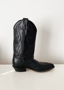 Solid Black Code West Cowboy Boot