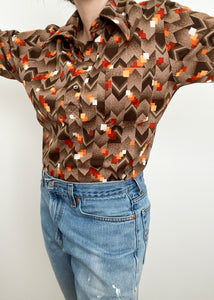 70's Sears Collared Button-Up