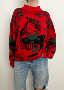 """Scotch Lady"" Mock Neck Sweater"