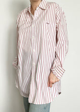 70's Red and White Pinstripe Button-Up
